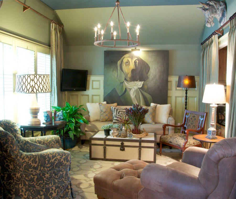 Mission Hills Kansas Living Room Art Statement Traditional